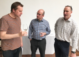 David Williams, Hal Wilson (Cambridge Wine Merchants) and Philip Amps (Amps Fine Wine)