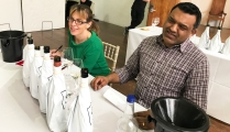 Kelli Coxhead (The Wine Shop Winscombe) and Nish Patel (Shenfield Wine)