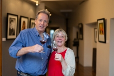 Ted Sandbach, Oxford Wine Company, and Louise Peverall, La Cave de Bruno